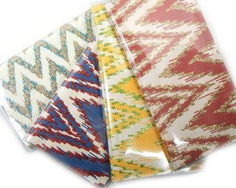 Checkbook Cover - ikat chevron choice of colors - checkbook holder case - colorful geometric accessories