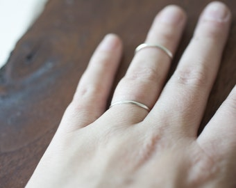 simple basic ring sterling silver ring plain ring fine silver band ring stacking ring thin silver ring