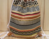 NEW TRIBAL BACKPACK Bag school backpack drawstring gym grocery excursion bag unisex