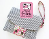 Aster Wristlet PDF Sewing Pattern | Small Handbag with Zipper Pockets Sewing Tutorial PDF