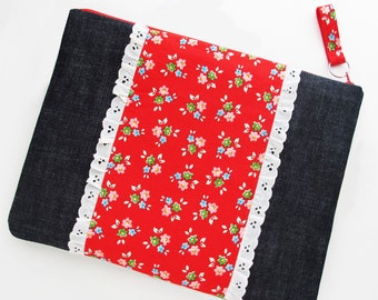 Extra Large Zipper Pouch | Zip top portfolio case storage bag for file folders, books, magazines and other large items.