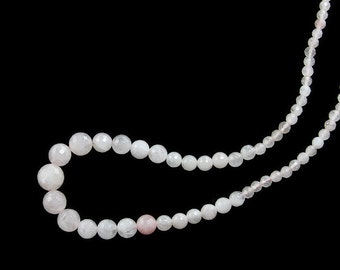 Rose Quartz Faceted Graduated Gemstone Beads