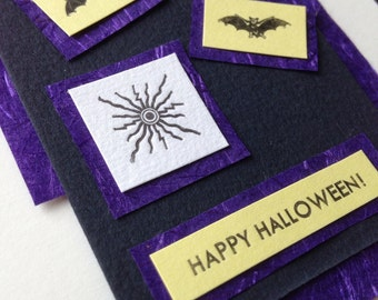Purple vortex Halloween card