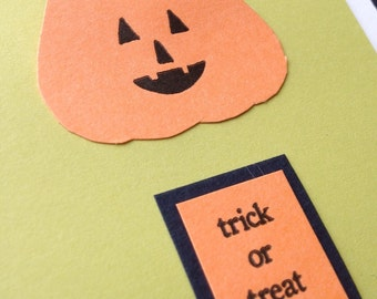 Letterpress trick or treat card