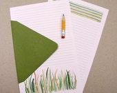 Prairie Stationery Paper Set, prairie watercolor