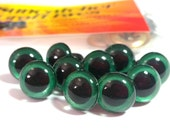 5 Pair of 20mm Suncatcher Craft Eyes in Shimmer Green - Plastic craft eyes for dolls, bears, and amigurumi