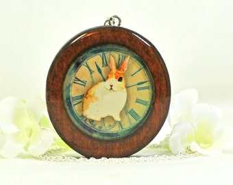 Wood Rabbit Jewelry Bunny Necklace Woody - Rabbit Pendant - Bunny Jewelry - Brown Bunny - Pet Rabbit - Nature Jewelry - Woodland Animal