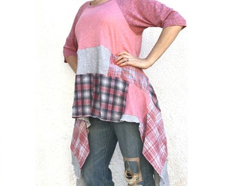 Pink Flannel Shirt Etsy