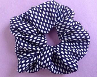Japanese Kimono fabric scrunchie - Polka dot