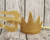 Two sizes available Ursula Evil Sea Witch King Triton Inspired Tiara Crown or Trident for Children or Adults Little Mermaid