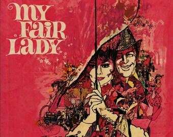 Warner Brothers Presents My Fair Lady – Audrey Hepburn – Rex Harrison - 1964 - Vintage Book