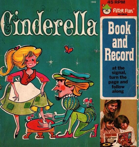 Cinderella Peter Pan Records - Vintage Kids Book