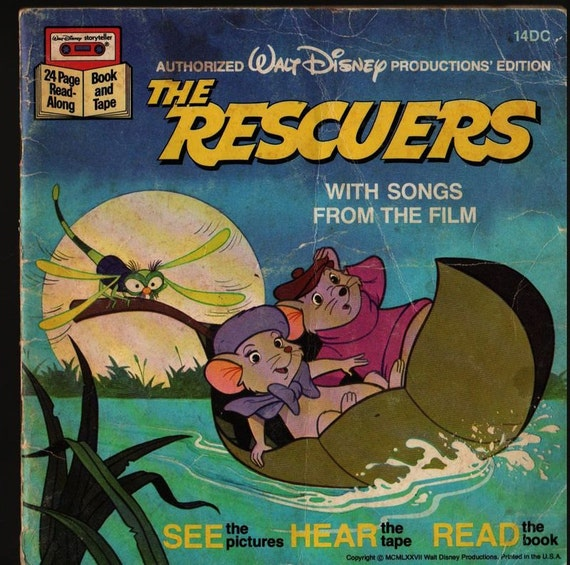The Rescuers With Songs from the film - 1977 - Vintage Kids Book