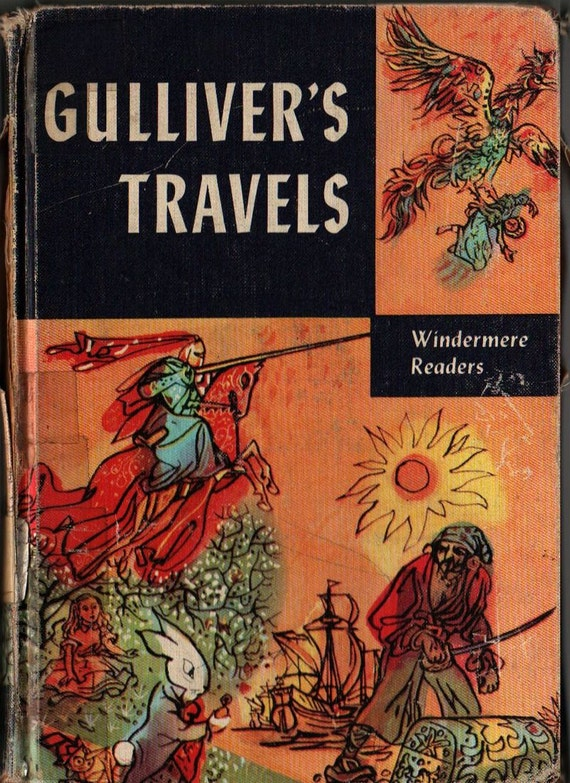 Gulliver's Travels Windermere Readers - Jonathan Swift - Milo Winter - 1956 - Vintage Kids Book