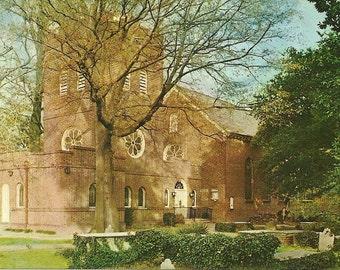 Vintage 1950s Postcard Virginia Norfolk Saint Pauls Episcopal Church Chapel Religious Building Photochrome Era Postally Unused