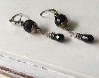 Artisan Black Onyx Sterling Silver Earrings