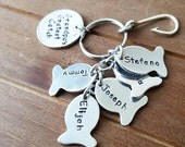 Personalized Fisherman Dad Fish and Hook Key Chain Grandpa's greatest catch Father's Day Gift - Name Key chain Grandpa