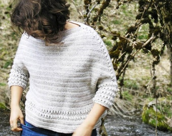 SaperliPOPette ! Crochet Pattern to make a Boxy sweater in any size using any yarn