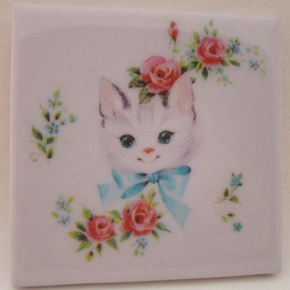 Rosy Little Kitty Coaster