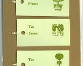 Letterpress Gift Tags, Minted Gardens