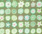 BUTTON FLOWERS in GREEN 1/2 yard of PWGP152 /Kaffe Fassett fabric  / Westminster Fabric / Cotton, Quilt Craft and Apparel fabric