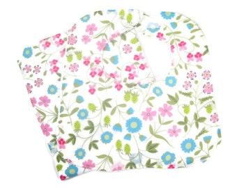 Mirabelle Floral Baby Girl Bib and Burp Cloth Set, Baby Shower Gift, Newborn Gift