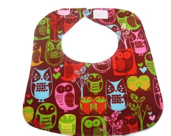 Owls Hoot Baby Girl Bib, Drool Bib, Baby Shower Gift, Infant Bib, Newborn Baby Bib