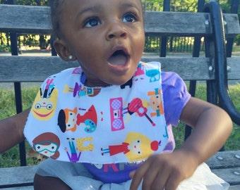Baby Girl Bibs, Baby Bib Set, Baby Shower Gift, Baby Girl Gift, Drool Bibs, Baby Girl Bib Set, Career Girls Bib