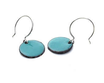 Enameled Dot Earrings - Your choice of colors