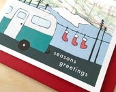 Little Camper Holiday Card - Available in singles or boxes