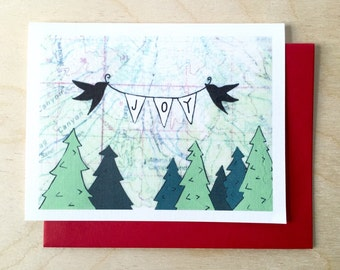 Joy Holiday Card - Available in singles or boxes