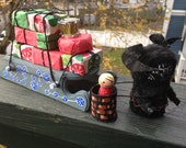 "Krampus Santas sidekick ""stolen presents ""handmade display"