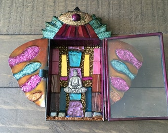 Mosaic Buddha Wall Art Shrine