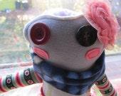 Scraparella Froggy Kahlo Handmade Stuffie Doll