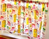 Retro Cafe Curtains - Classic Pinup Girls - PAIR of 2 Panels