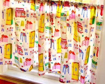 Cafe Curtains   Retro Kitchen   PAIR Of 2 Panels