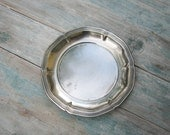 Alpaca Candy Serving Dish Small Faux Silver Dish Flat Serving Dish Small Party Dish