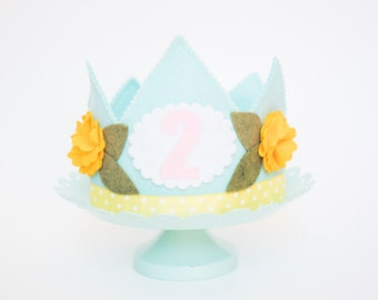 The EMMY Flower Crown // Birthday Crown // sunflower // Flower Crown // Crown for Down Syndrome