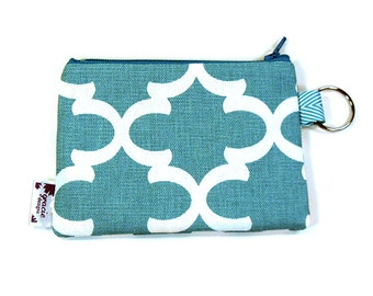 Coin Purse / Change Purse / Coin Pouch / Gadget Pouch - Blue Fulton