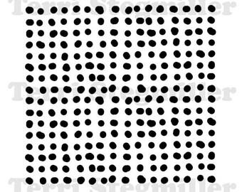 """Dots 6x6"""" Stencil"""