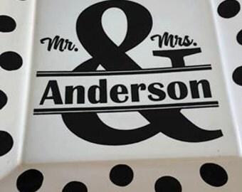 Ampersand Wedding Plate