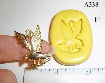 Eagle Pendant Flexible Push Mold For Resin Polymer Candy Chocolate - Food Safe Silicone A338