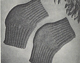 Pattern - Vintage Knee Warmer and Cast Cover or Toe Warmer JPG Pattern 825