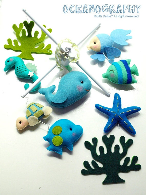 Nautical Baby Boy Room: Free US Ship Oceanography Under The Sea Hanging Baby Mobile