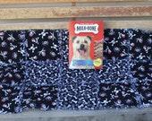 Dog Blanket, Dog Bed, Pirate Dog Bed, Black Dog Bed, Handmade Dog Blanket, Dog Quilt, Luxury Dog Bed, Fabric Dog Blanket, Washable Dog Bed
