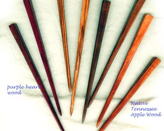 Chopsticks - One Single or Matched Pair - 8 Inch Overall length - Choose wood species - Single or Matched Pair