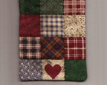 """Free US Shipping! Miniature Country Patch Dollhouse Quilt 3""""x4"""" Hand Quilted Great for OOAK Sculpt Doll #6024Mini"""