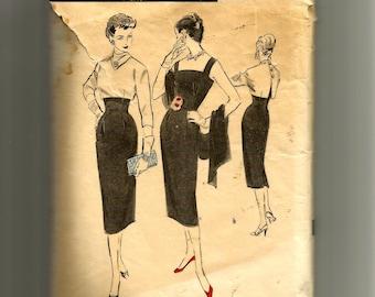 Vintage Advance Misses' Sheath Dress and Bolero Pattern 8048