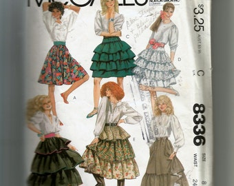McCall's Misses'  and Junior/Teen Skirts Pattern 8336
