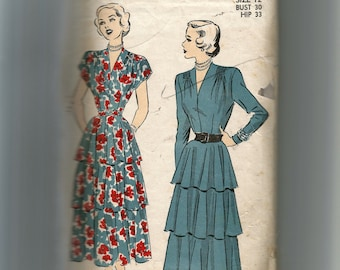 Advance Misses' Dress Pattern 4852